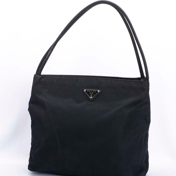 a684f3e5aeee Authentic PRADA Vintage Black Nylon Tote Handbag. M 5c87fcab3c9844625f8095d1